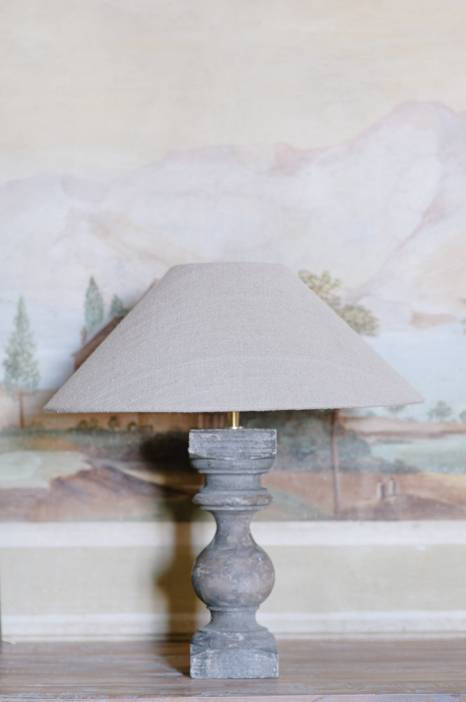 "Handmade Lampshade coolie in linen ""Soothing 02"""