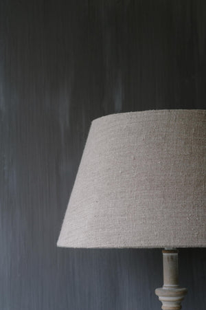 "Handmade Lampshade tapered drum in linen ""Garda Natural"""