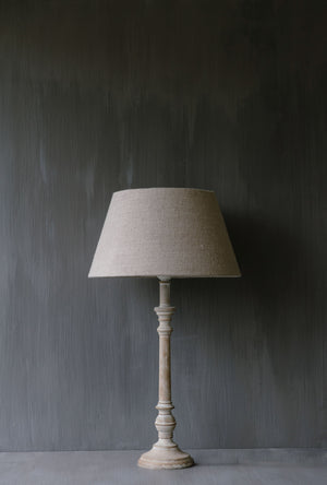"Handmade Lampshade tapered drum in linen ""Lucca 13"""