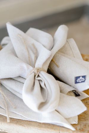 "Handmade linen napkin ""Antique Rose"""