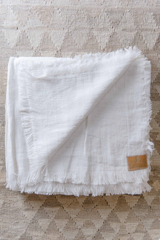 "Large table cloth with fringed finish ""Lucca 13"""