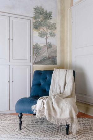 "Versatile handmade linen throw ""Roma 23"""