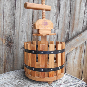 Wooden Wine Carrier. Wine Grape Press Shaped Six Bottle Wine Carrier. French, Barrel Wine Holder. Perfect for Picnics and Outdoor Dining.