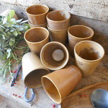 Load image into Gallery viewer, TWELVE Digoin Stoneware Tumblers. Medieval Re-enactment Pottery Goblets. Gréspots Ceramic Cups. Reenactment Cups. Medieval Drinking Vessels