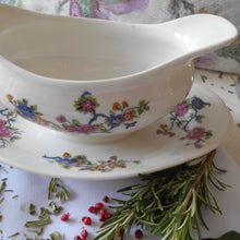 Load image into Gallery viewer, Rare Limoges Porcelain Sauce Boat with Fixed Under Plate. Early 1900's 'Michelaud Frères' Gravy Boat.