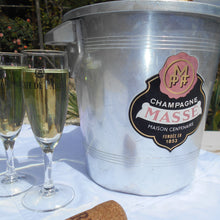 Load image into Gallery viewer, Vintage 'Champagne Massé' French Champagne Ice Bucket. Wine Cooler. Wine Chiller. Metal Ice Bucket. Champagne Cooler. 1950s Bar/Bistro Décor