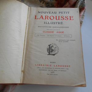 French 1933 Edition of the 'Nouveau Petit Larousse Illustré'.