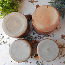 Load image into Gallery viewer, Set of Four French Confit Pots. Country Kitchen Accent. Kitchen Herb Planters. Rustic Confit Jars. Kitchen Utensil Storage Jars. Confit Pot