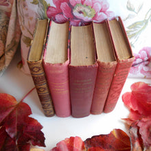 Load image into Gallery viewer, Antique French Red Book Bundle. Red Book Stack of Classic French Literature. Works by Jules Verne, Corneille, Boileau & Guy de Maupassant.