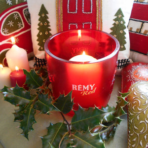 Rare Rémy Red Cognac Ice Bucket/Candle Holder