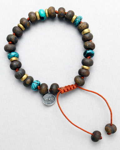 Arizona Turquoise and Bronzite Bracelet