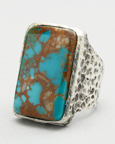 Kingman Arizona Turquoise Rectangular Ring