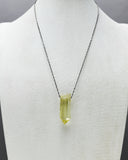Citrine Quartz Crystal Necklace