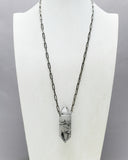 Black Rutile Quartz Crystal Necklace