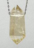 Quartz Crystal with Gold Rutile Necklace