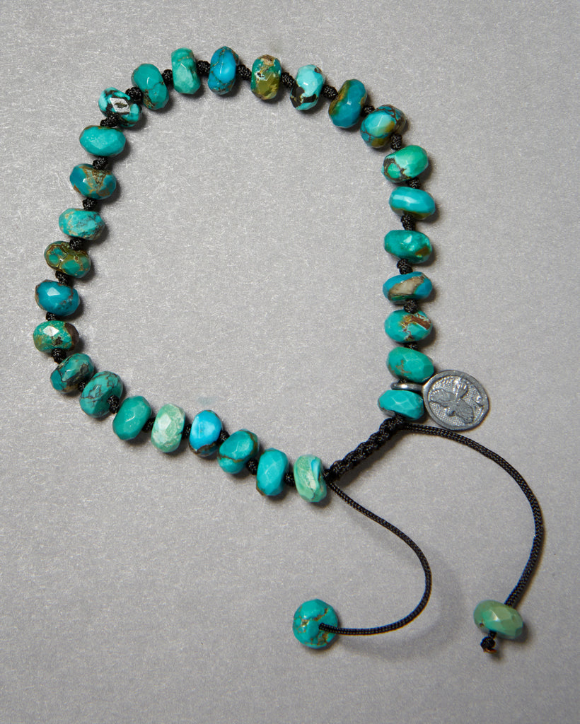 Arizona Turquoise Faceted Rondelle Bracelet (6mm)