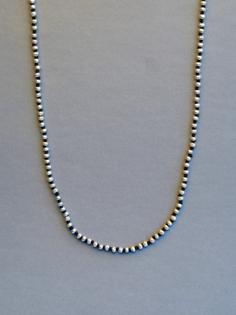 Sterling Faceted Rondelle Necklace