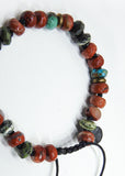 Arizona Turquoise, Red Creek Jasper and Serpentine Bracelet