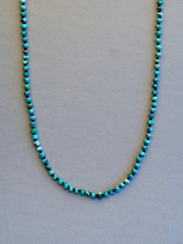 Arizona Turquoise Faceted Rondelle Necklace