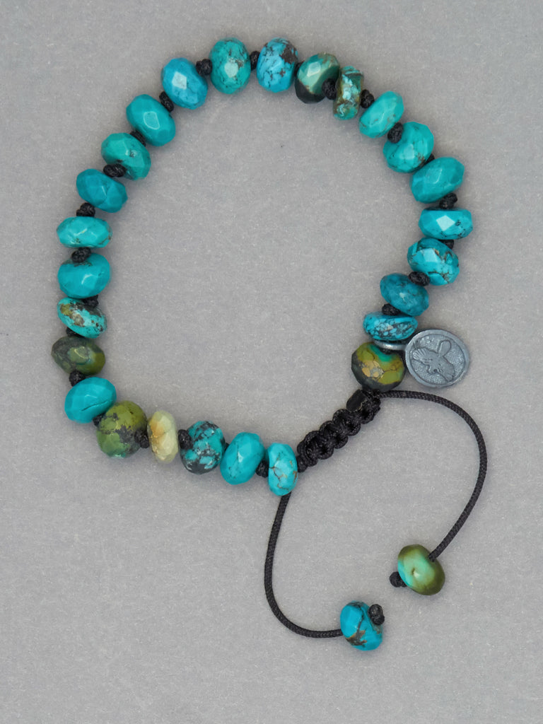 Arizona Turquoise Faceted Rondelle Bracelet (8mm)