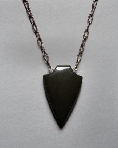 Black Onyx Shield Necklace