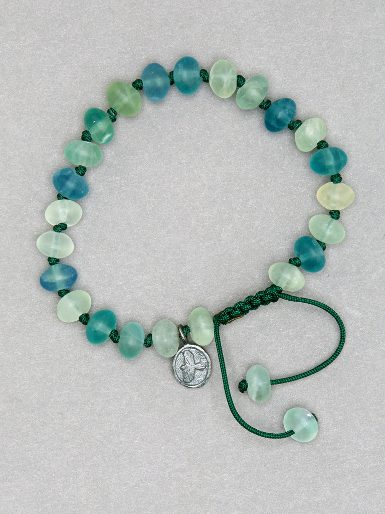 Green Fluorite Smooth Rondelle Bracelet