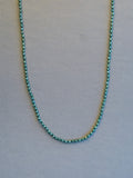 Diopside Faceted Rondelle Necklace