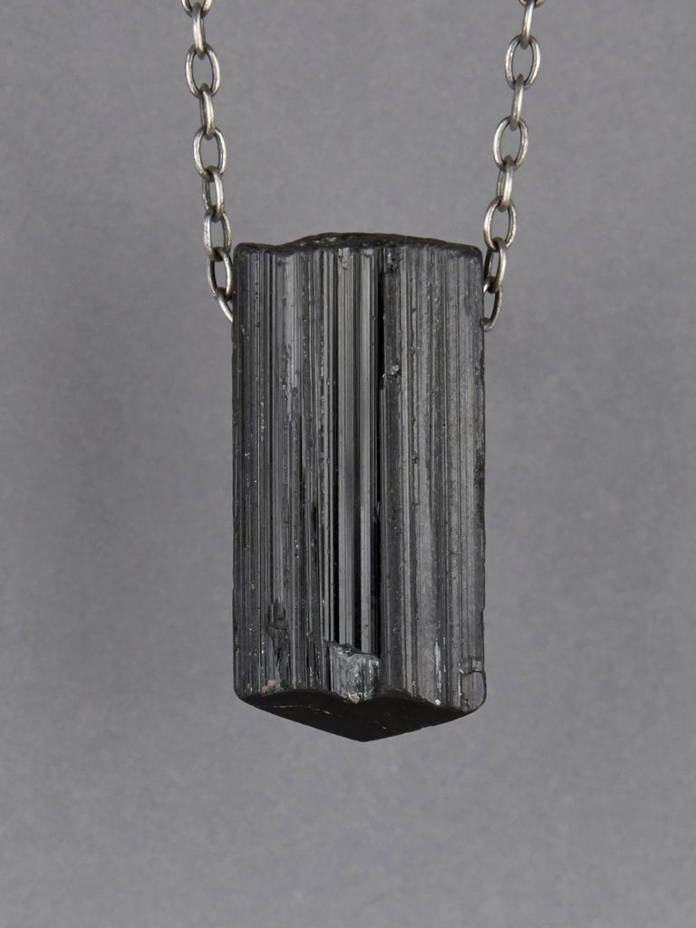 Black Tourmaline Sterling Necklace