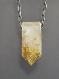 Quartz Crystal with Golden Colored Chlorite Inclusions