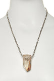 Quartz Crystal Necklace with Amphibole Inclusions