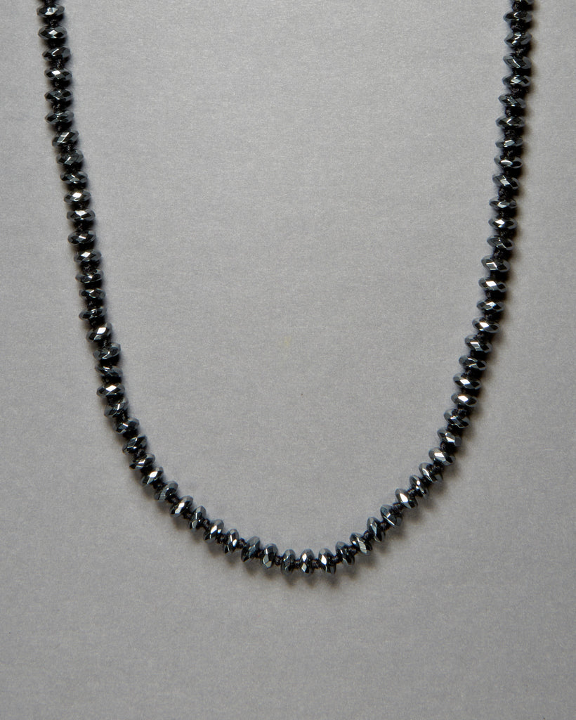 Hematite Faceted Rondelle Necklaces