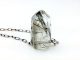 Quartz Crystal with Green Tourmaline Crystals