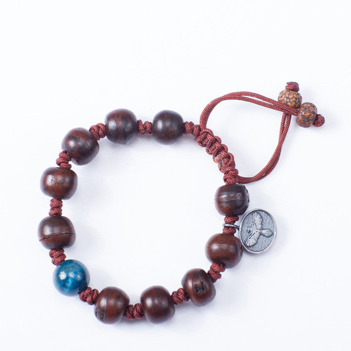 Tibetan Prayer Beads with Ocean Blue Apatite