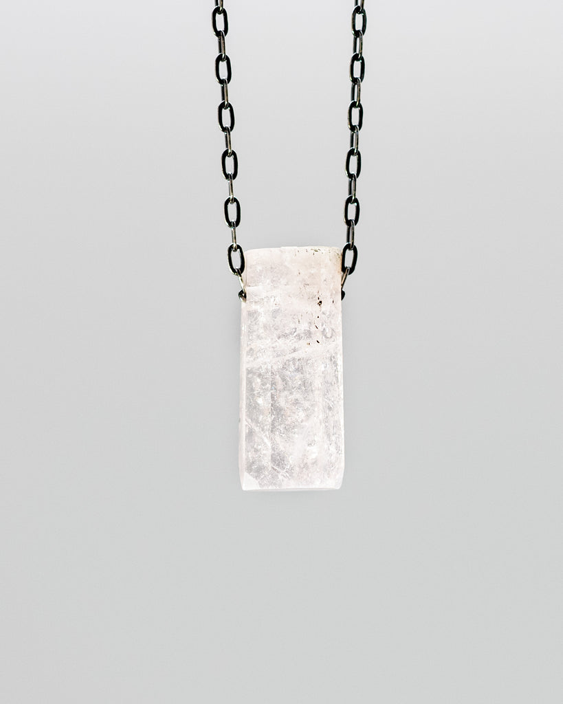 Morganite Crystal Necklace