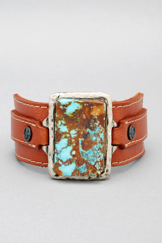 Arizona Turquoise Leather Cuff