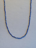 Lapiz Lazuli Faceted Rondelle Necklace (3 1/2mm)