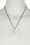 Clear Quartz Crystal Skull Necklace