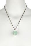 Aventurine Quartz Skull Necklace