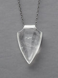 Clear Quartz Shield Necklace