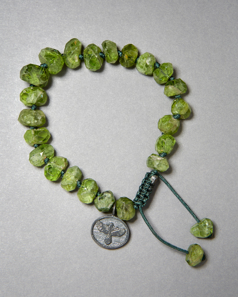 Peridot Bracelet (8mm-10mm nuggets)