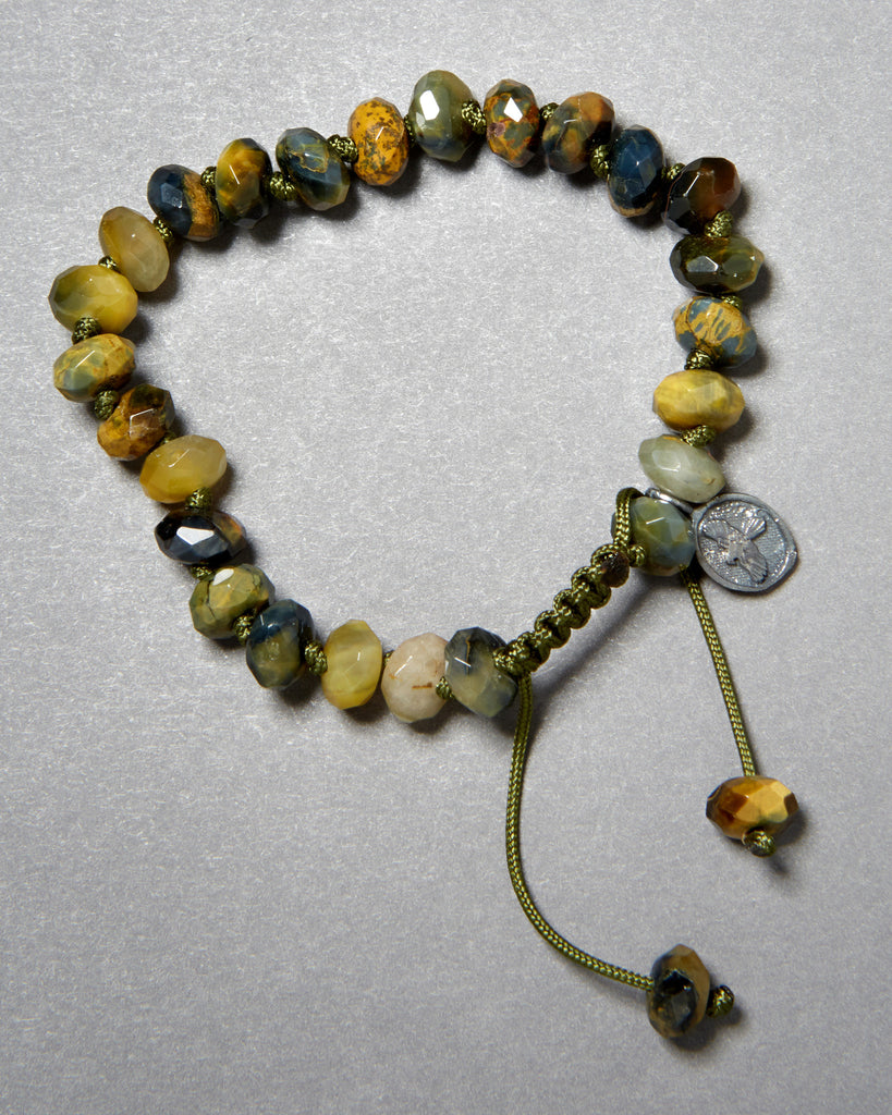 Pietersite Faceted Rondelle Bracelet