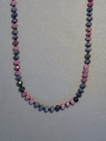 Pink & Blue Sapphire Necklace