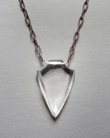 Quartz Crystal Shield Necklace