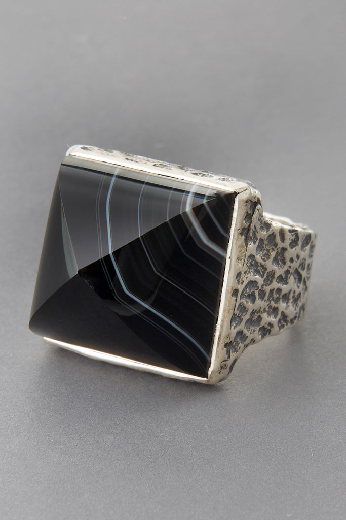 Sardonyx Pyramid Ring