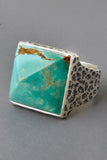 Kingman Arizona Turquoise Pyramid Ring