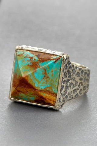 Arizona Turquoise Pyramid Ring