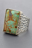 Arizona Turquoise Rectangular Ring