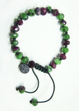 Zoisite and Ruby Bracelet