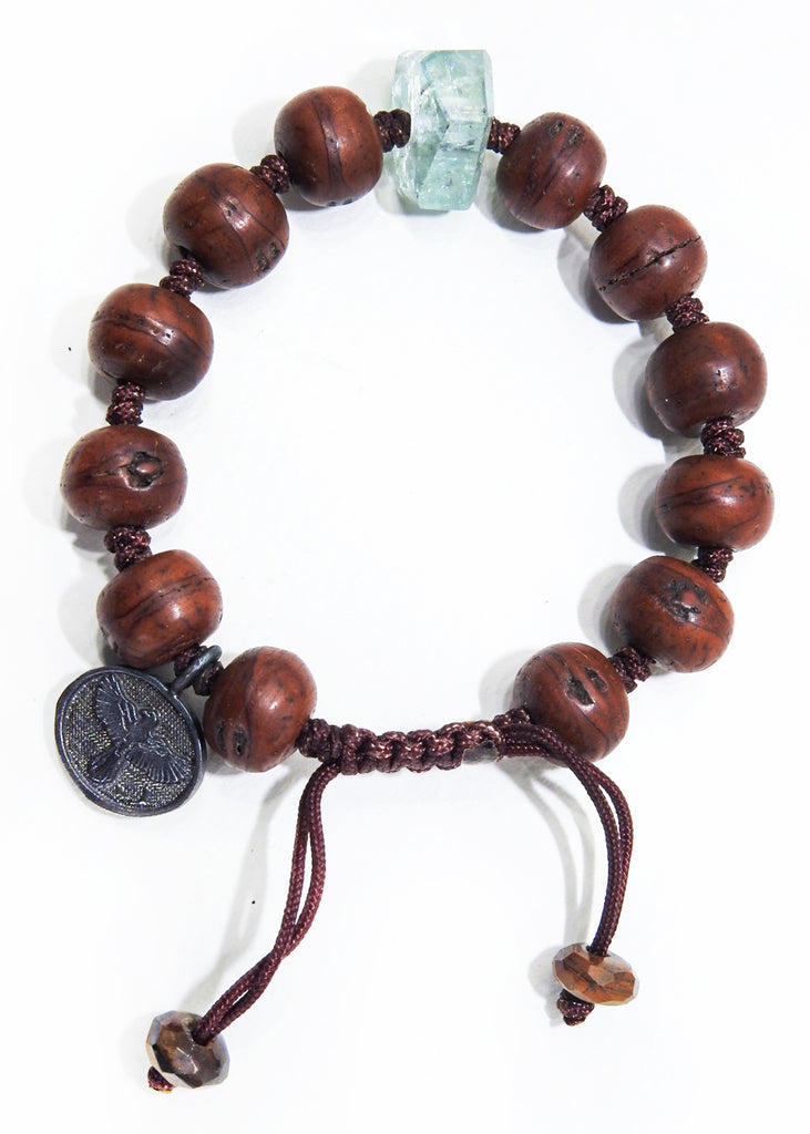 Tibetan Prayer Beads with Aquamarine