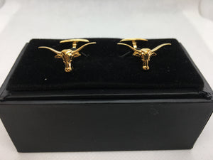 Longhorn cufflinks gold plated